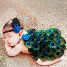Amazing Peacock Style Newborn Baby Photography Prop Infant Custome with Headband