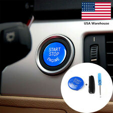 For BMW E90 E91 E60 E84 E83 E71 E72 Blue Engine Start Stop Switch Button Cover