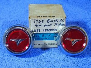 1965 Buick Skylark GS Accy Ralley Wheel Center Cap Medallions NOS