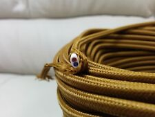 Vintage 2-Wire Flat Parallel Cloth Covered Wire Antique Pendant Lamp Cord Bronze