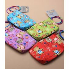 pack of 4 teddy bear print purses with hair elastics, party bag, prizes,(0)