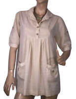🌻 MISS SHOP SIZE 16 PLEATED TUNIC TOP