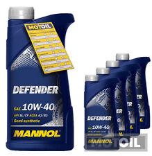 10W-40 Motoröl 5 Liter MANNOL Defender 10W-40 + 1x Ölanh. VW 501.01 505.00 MB 22
