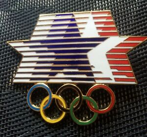 1984 Los Angeles Summer Olympics Huge Jumbo Stars In Motion Cloissone Pin LA84