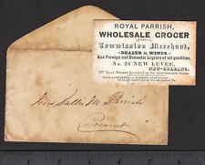 pre-Civil War New Orleans 26 New Levee Royal Parrish Grocer Liquor Boat Stores