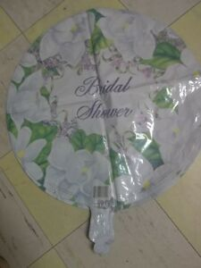 """Bridal Shower 18"""" MYLAR FOIL BALLOON Flowers or 18"""" Congratulations YOU PICK"""