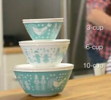 Pyrex 1125474 Vintage Charm Rise N Shine 3 Piece Mixing Bowl Set Multicolor