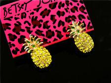 Betsey Johnson Crystal pineapple ear studs earrings christmas gift
