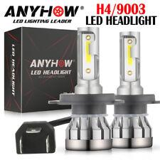 Par sin ventilador H4 HB2 9003 2000W 300000LM LED faros kit Hi/lo potencia Bombilla 6000K