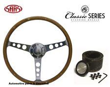 """Holden EH EJ HD HR SAAS Classic Steering Wheel 380mm 15 """" Wood Grain & Boss Kit"""