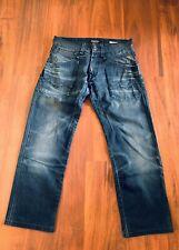 REPLAY SKAR Men's Classic Fit Straight Leg Distressed Blue Jeans Size W31 x L32