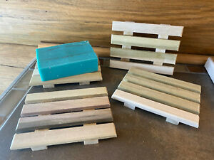 1 natural poplar wood soap dish - proudly handmade in the USA