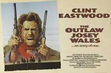 OUTLAW JOSEY WALES Movie POSTER 30x40 Clint Eastwood Chief Dan George Sondra