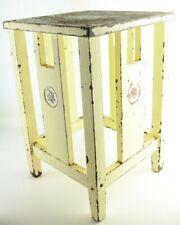 Secession Art Nouveau Era Wooden Stool Furniture with Star of David Decor