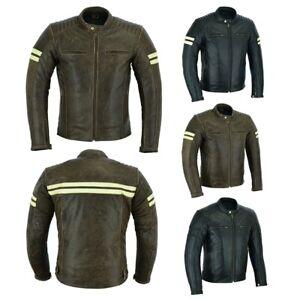 Australia Bikers Gear Motorbike Cafe Racer Motorcycle Distressed Leather Jacket