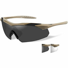 Wiley X Vapor 3511 Tactical Army Ballistic Safety Glasses Coyote Tan 2 Lens Kit