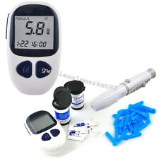 Blood Glucose Meter Monitor +50 FREE test strips,Lancets,Diabetes 【USA】