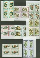 Congo Republic 1971 Reptiles imperf corner blocks