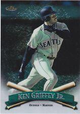 """1998 TOPPS FINEST KEN GRIFFEY JR. BASEBALL CARD # 8 OF 8 -  3-1/2"""" X 5"""""""