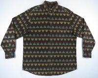 Vintage Woolrich Mens Aztec Southwestern Flannel Blanket Long Sleeve Shirt XL