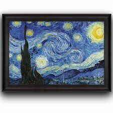 Starry Night by Vincent Van Gogh-Oil Painting, Artist - Framed Art Prints- 24x36