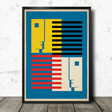 Bauhaus Inspired Geometric Minimalist Abstract Art Print Poster #10