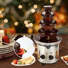 4 Tiers Xmas Party Chocolate Fondue Fountain Waterfall Melting Machine Stainless