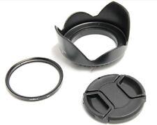 72mm Lens Hood Cap UV Filter Canon for EOS 5D Mark II 18-200mm 550D 500D
