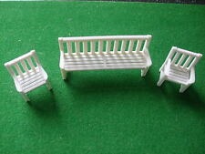 Britains Floral Garden BENCH & TWO CHAIRS