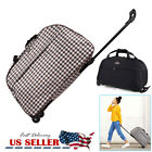 """Duffle Bag 24"""" Rolling Wheeled Trolley Bag Tote Carry On Luggage Travel Suitcase"""
