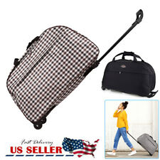 Duffle Bag 24' Rolling Wheeled Trolley Bag Tote Carry On Luggage Travel Suitcase