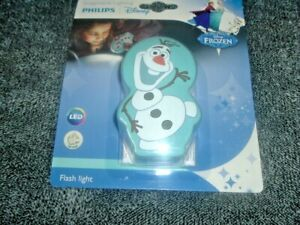 Philips LED DISNEY FROZEN OLAF Children's SAFE Torch and Night Light  NEW