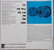 Sachs Motorenprogramm u.a. 50S und incl. Kleinfahrzeug Messerschmitt