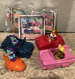 Taco Bell 1995 Fox Network Desert Cruiser happy Meal Toy Kids Lot of 5
