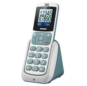 BRONDI AMICO HOME GSM CON TASTI GRANDI DUAL SIM VOLUME ALTO BIANCO/GRIGIO