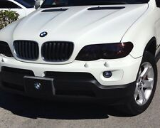 04-06BMW X5 SMOKE FOG LIGHT TINT COVER BLACK OUT SMOKED-COLORED LAMIN-X FILM