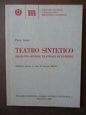Futurismo Teatro Sintetico Buzzi Paolo Palazzo Sormani 1988