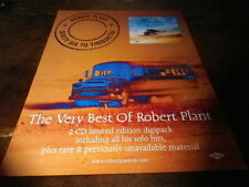 ROBERT PLANT - Publicité de magazine / Advert !!! SIXTY SIX TO TIMBUKTU !!! UK !