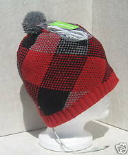 Bula Red Chex Ipod/Mp3 Audio Stereohead Ski Snowboard Beanie Hat