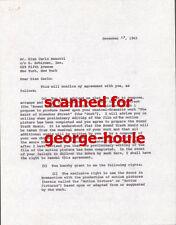 GIAN CARLO MENOTTI - LETTER - SIGNED - 1965 -  COMPOSER -  SAINT OF BLEECKER ST
