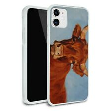 Brown Cow Cattle Horns Apple iPhone 8, 8 Plus, X, 11 Case