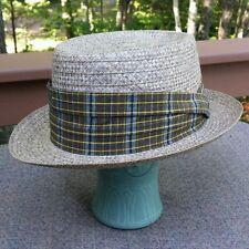 Vintage Churchill Ltd Genuine Panama Hat Raimie Straw Fedora Size 7