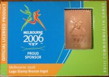 STAMP BRONZE INGOT MELBOURNE  2006 COMMONWEALTH GAMES - 1/4 OF LIST PRICE