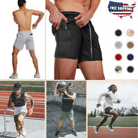 Men's Gym Sports Training Bodybuilding Workout Running Shorts Fitness Gym Pants