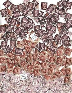 UK. GB collection of 300 stamps SCOTT # 232, 362, 631B, 3  BUNDLES of 100  used