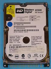Western Digital WD600UE-22HCT0 | DCM: FCHTJBNB | 29 AUG 2005 | 60GB disco rigido