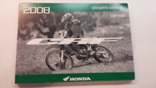 2008 CRF100F Honda Motorcycle Owners Manual  ( Factory )