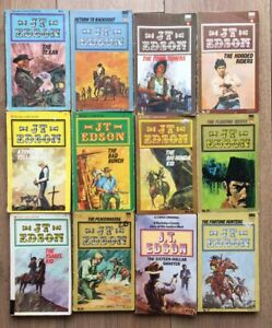 J T Edson Western Cowboy Books Lot Of 12 See Photos For Detail
