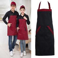 AM_ Denim Canvas Pockets Apron Butcher Crafts Baking Chefs Kitchen Cooking BBQ P