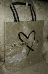 VICTORIA'S SECRET OFFICIAL FASHION SHOW GLAMOUR GLITTER HEART TOTE BAG * NWT *